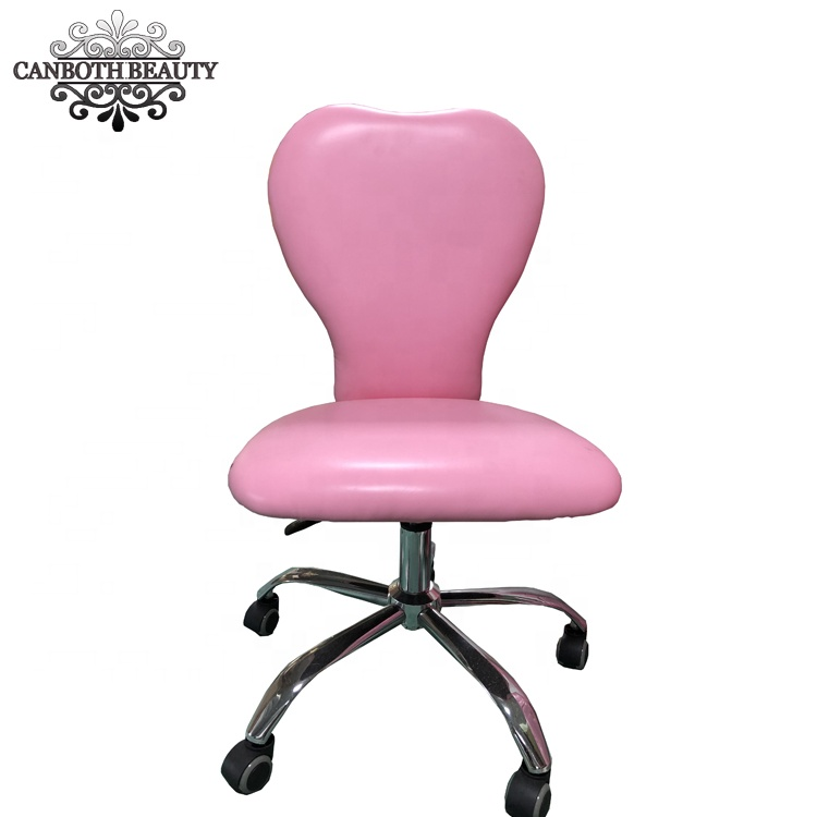 Pink Heart shaped Swivel stool manicure chair/technician chair