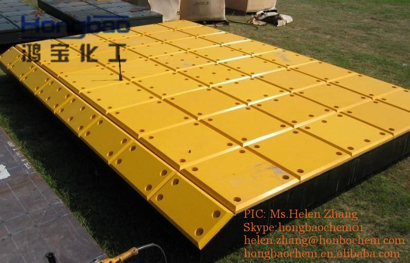 anti corrosion uv stability uhmwpe marine fender facing pads
