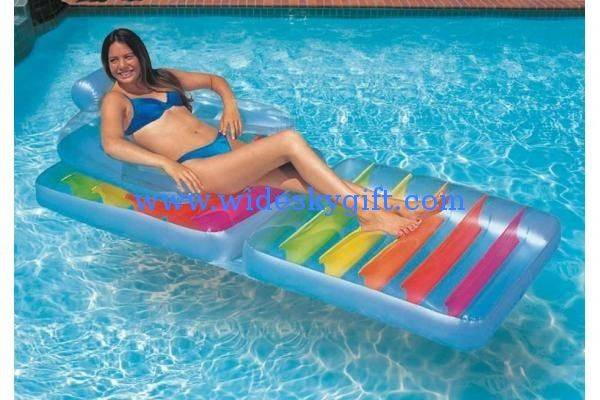 pvc inflatable beach chair /pvc inflatable beach lounge chair/pvc advertising floating bed