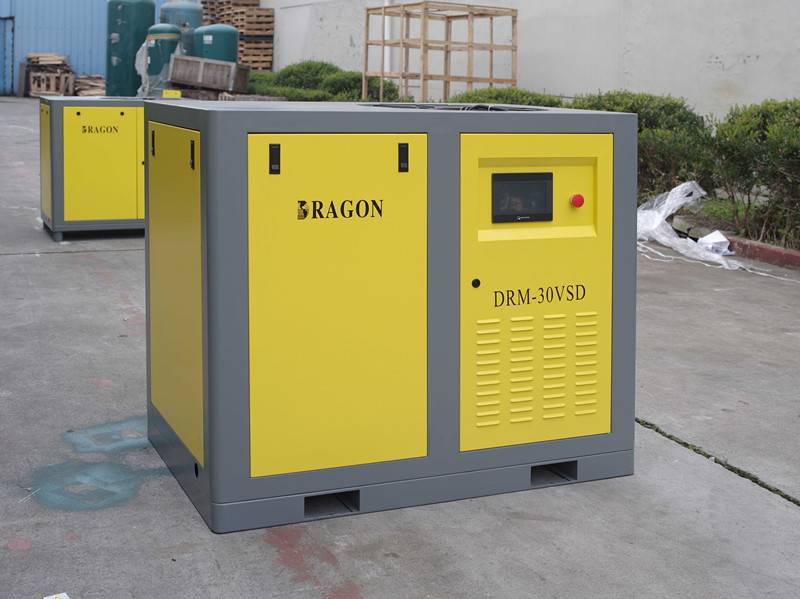 permanent magnet screw air compressor by Dragon 22kw/30hp