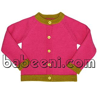 Pretty hot pink baby girls cardigan - BB502