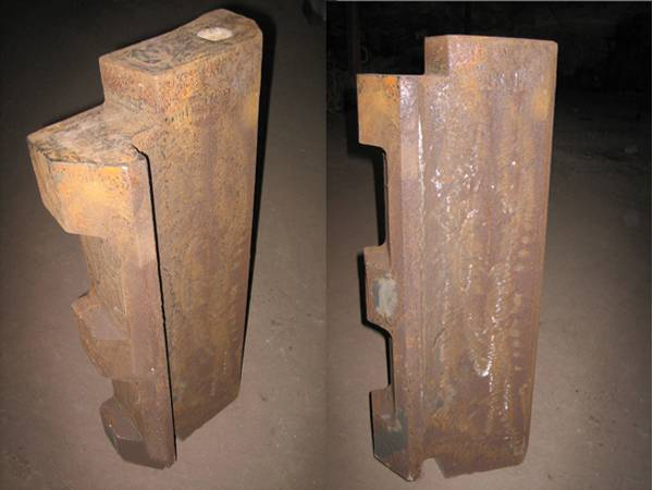 Counterattack broken plate hammer of High manganese steel casting