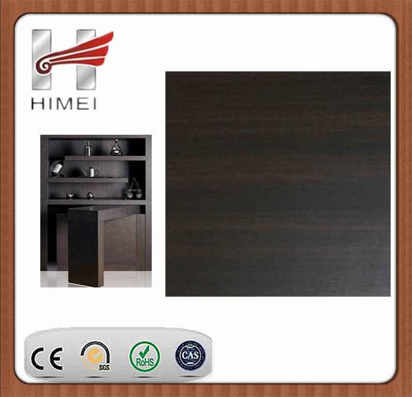 Wood grain laminated sheet for wine cabinet