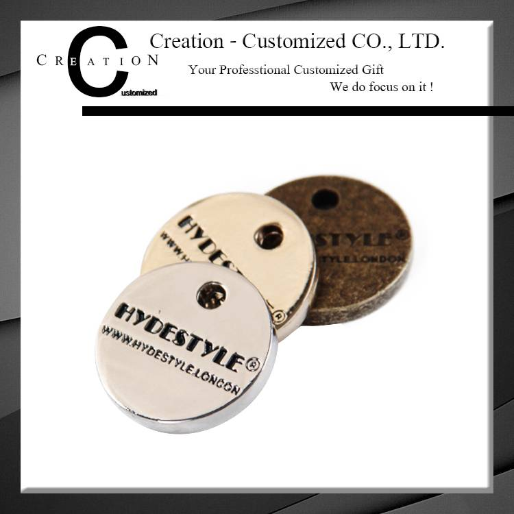 Fashion Metal Tags Custom Logo Metal