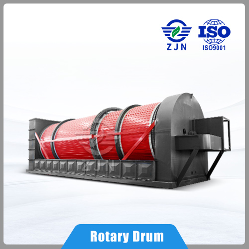 ZJN Three Cylinders Rotary Drum Dryer for Metal Sludge Drying