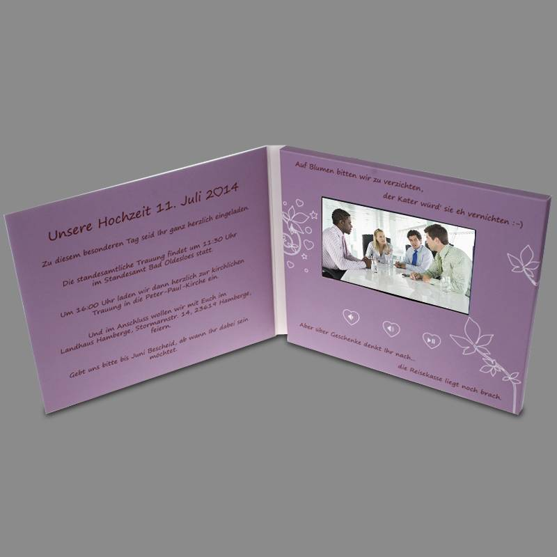 lcd wedding invitation card
