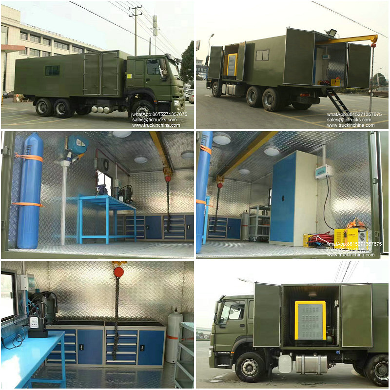 HOWO Vehicle Mobile Workshop 6x4 good quality sale