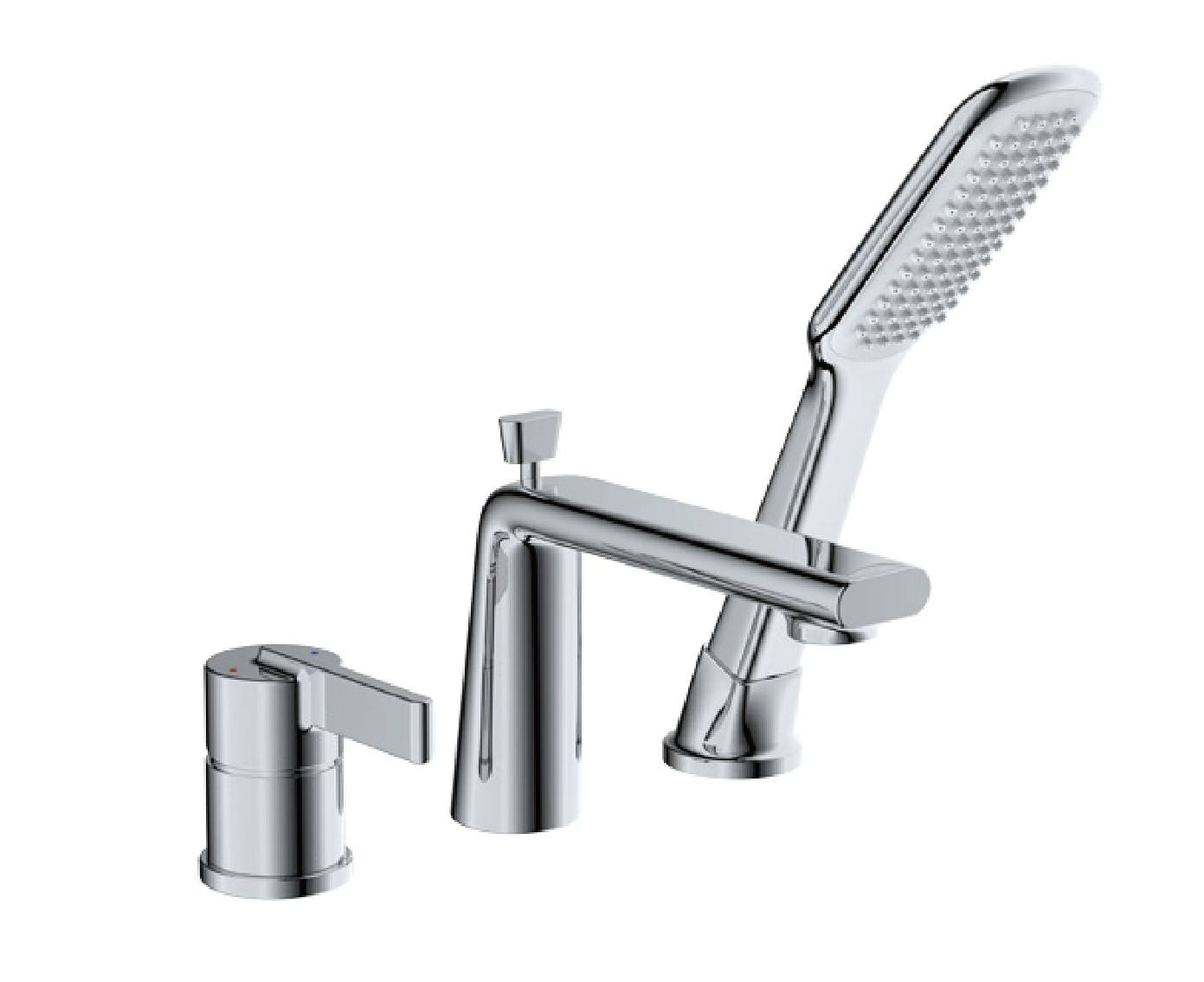 Contemporary chrome brass bathroom bathtub mixer tap