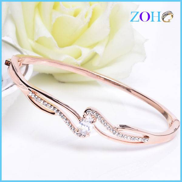 Elegant multicolor charm bangles jewelry with blue crystal new fashion bangles