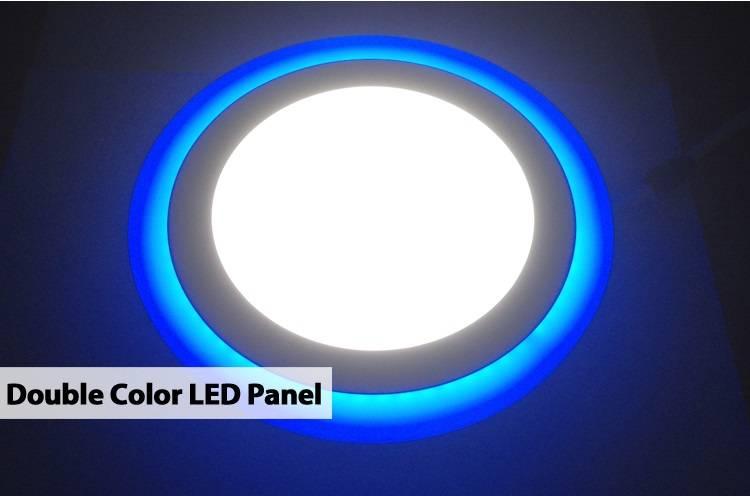 86 - 265V AC Double Round Led Panel Light 12 + 4 watt Wiht AL and PVC