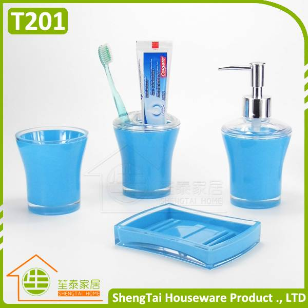 4 pieces hotel plastic bathroom set