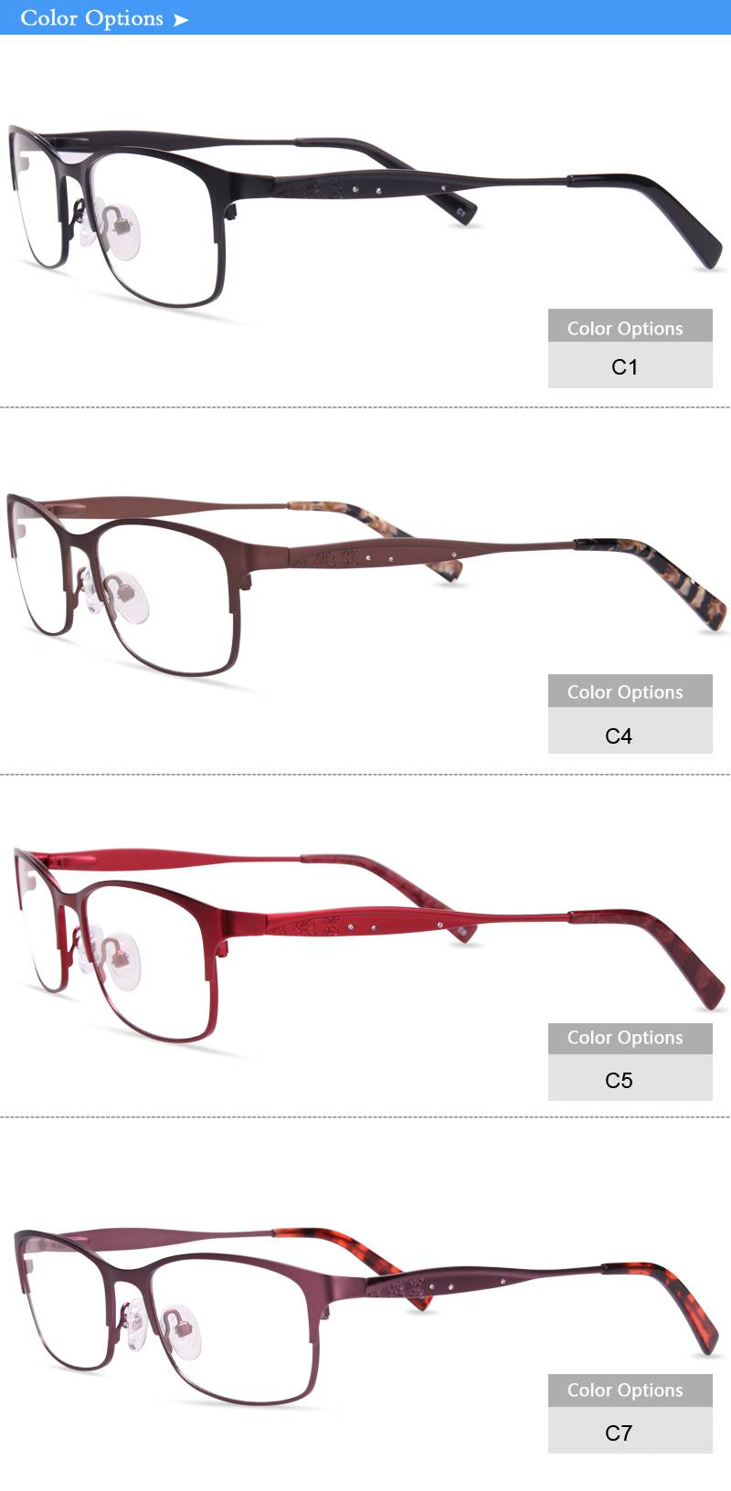China wholesale eyeglass manufacturer optical frame JC6644