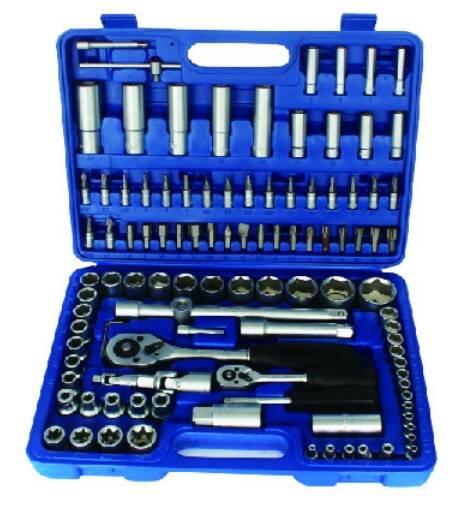 108 pcs Adjustable Blow Case Ratchet Spanner Wrench Socket Set