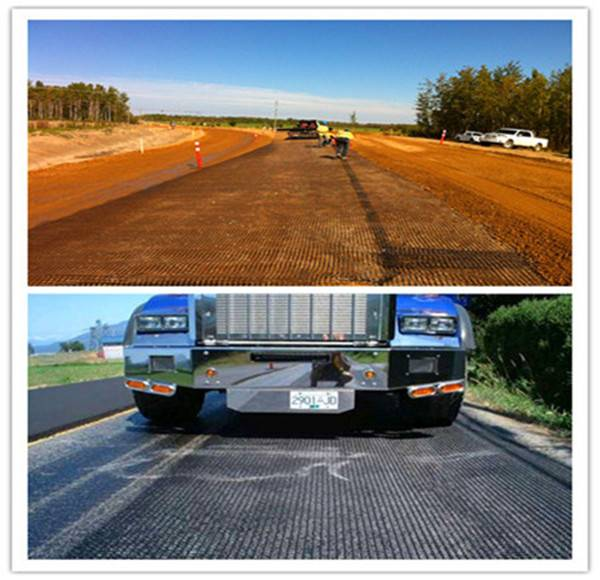 BX glassfiber geogrid for asphalt road paving