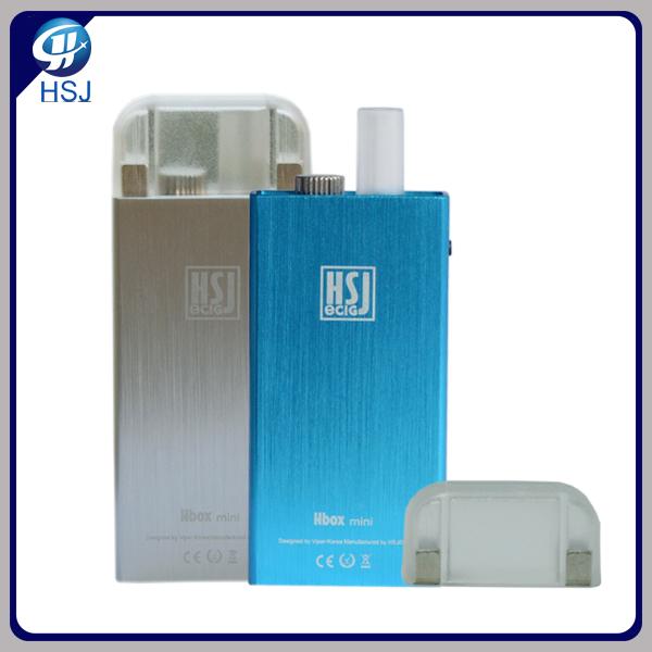 HSJ hbox mini e-cigarette 900mah battery 3.7 V aluminum vaporizer