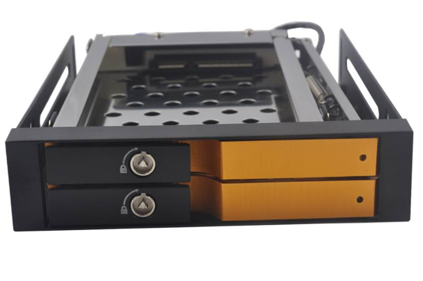 """2.5 """" Dual bay UNESTECH SATA Aluminum case internal hdd caddy"""