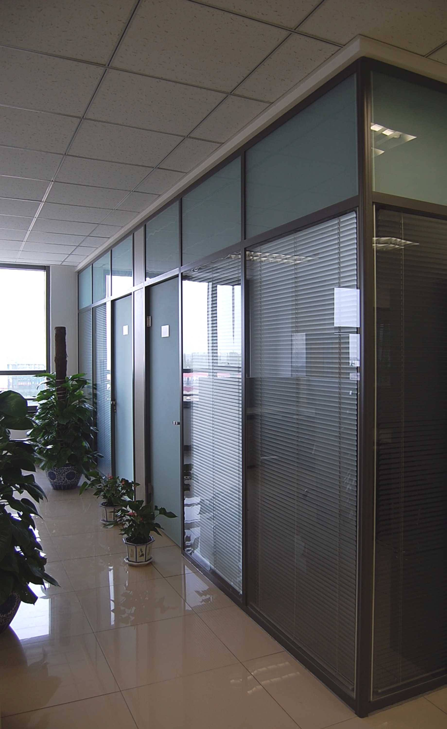 Modular living room glass mobile partition  wall design