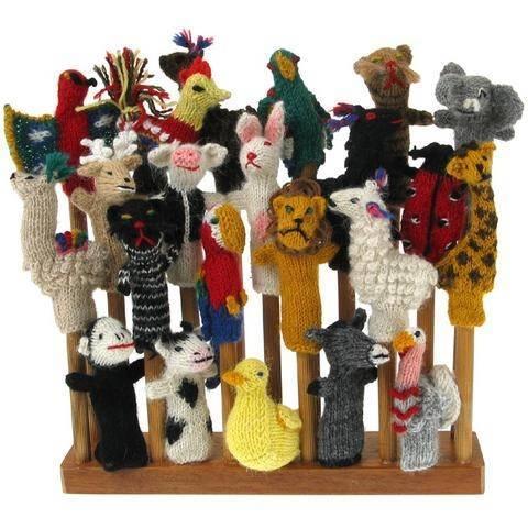 Wool finger puppet