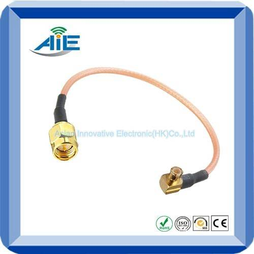 RF pigtail cable assmebly with mcx right angle male and sma male