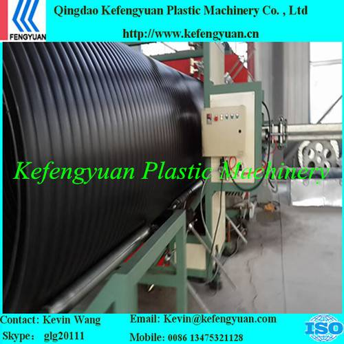 KFY large diameter hollow wall winding pe hdpe pipe tube extruder machine