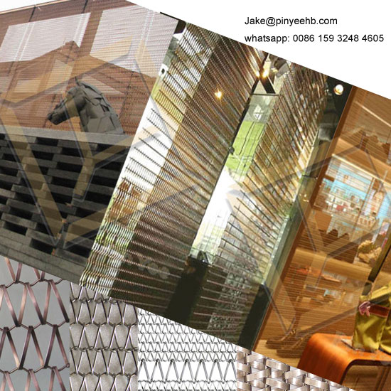 Facade design architectural balance woven mesh curtain wall