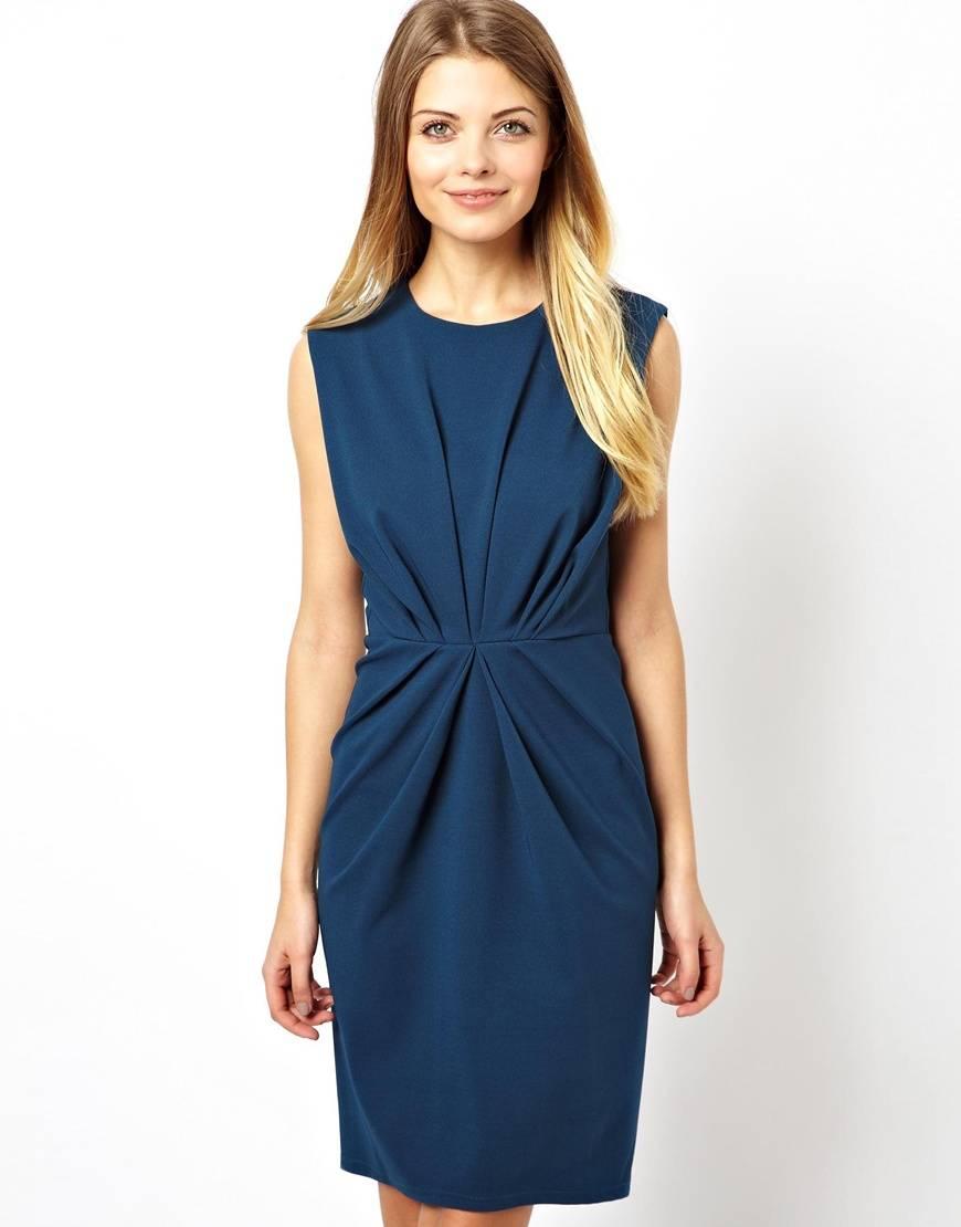 New Design Ladies Casual Dresses with Popular Pleat Waist (JK11070)