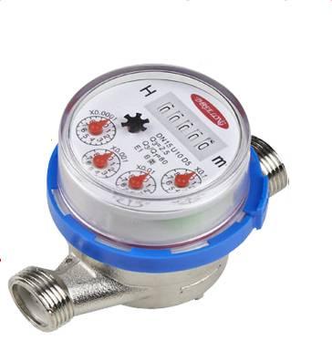 Single Jet Dry Dial Brass Water Meter
