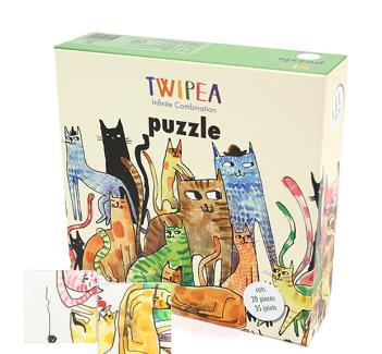TWIPEA PUZZLE BLOCK (cat, fish, bird )