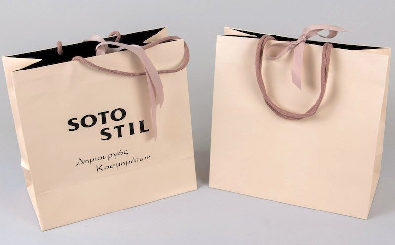 Wholesale Custom Printed Your Own Logo White Brown Kraft Gift Craft Shopping Paper Bag With Ribbon H