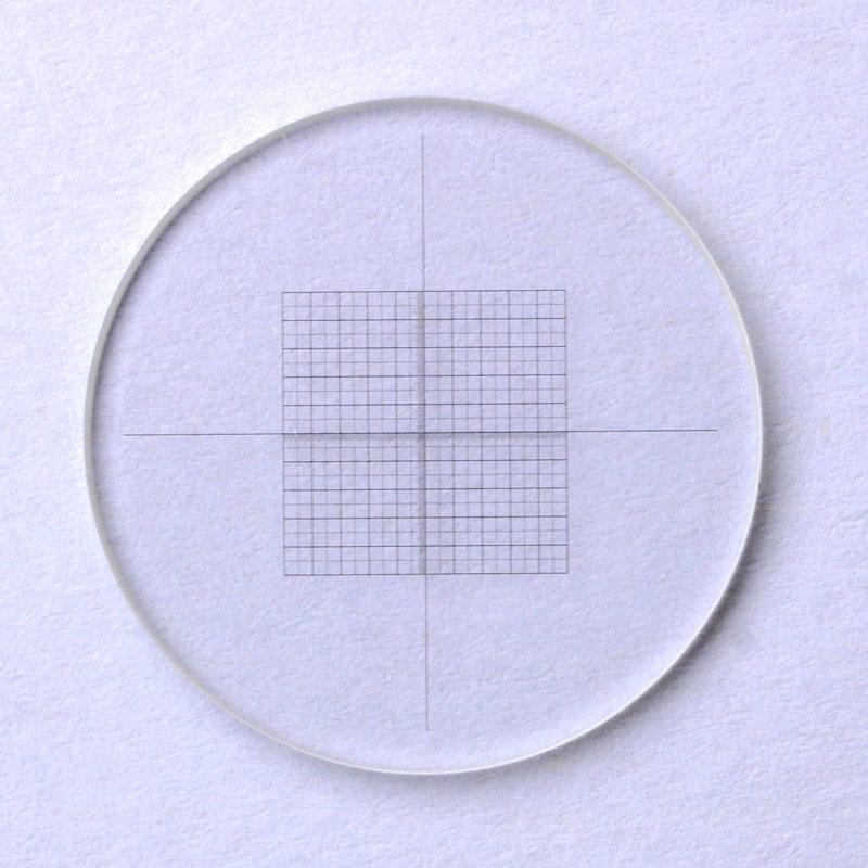 Cross Net Ruler Stereoscopic Graticule Crosshair Grid Microscope Eyepiece Micrometer