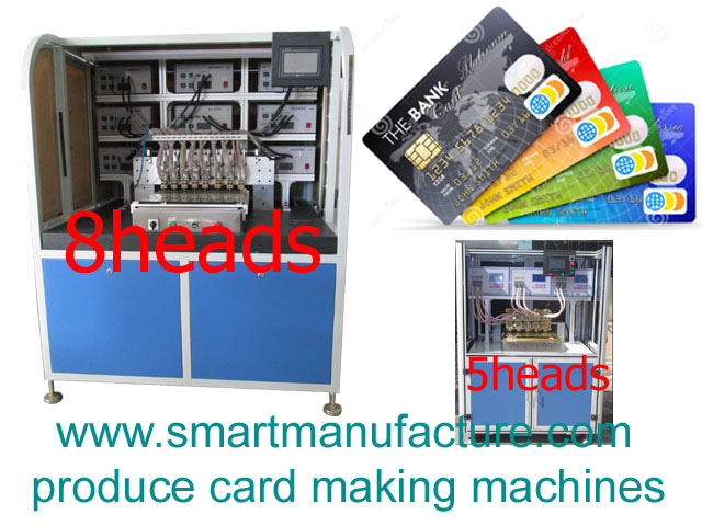 SMNCM-4 RFID Contactless Smart Card Chip Bonding Machine