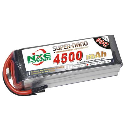 NXE4500mAh-60C-14.8V Softcase RC Helicopter Battery
