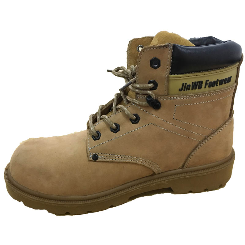 JWB Brown Genuine Leather Upper PU Sole Safety Footwear for Workplace Using