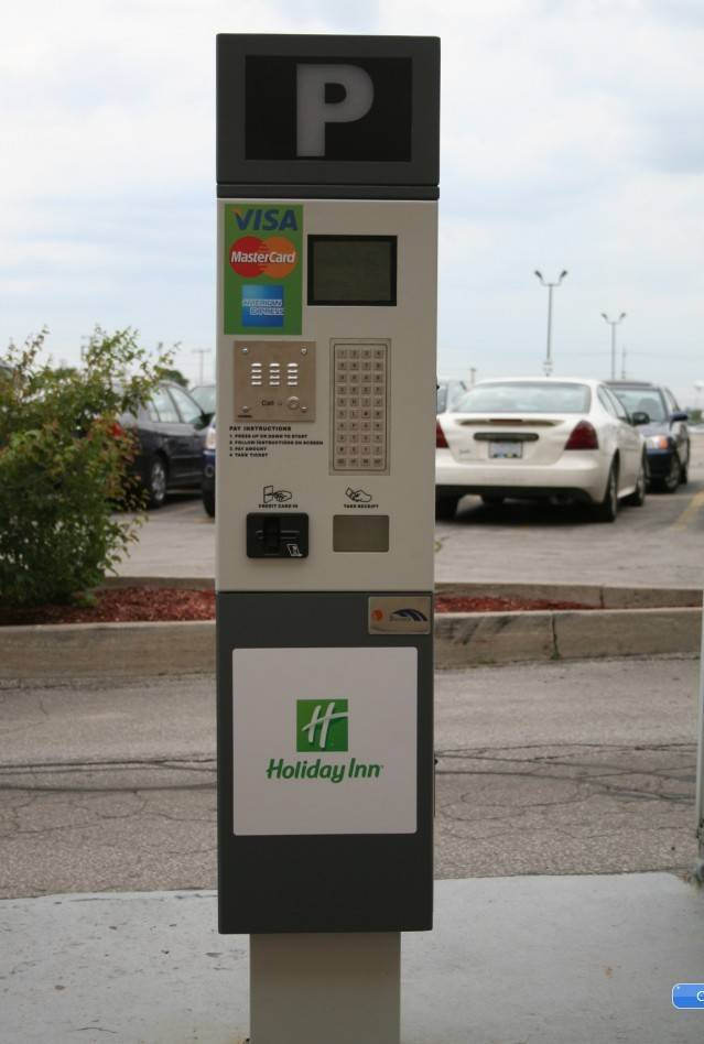 pay on street car parking meter PM71 payment kiosk