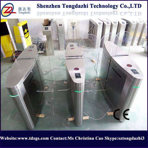 Building automatic sliding barrier gate with time attendance system