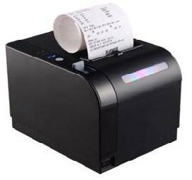 80mm receipt thermal printer with flash light order alert function, 300mm/s thermal printing speed R
