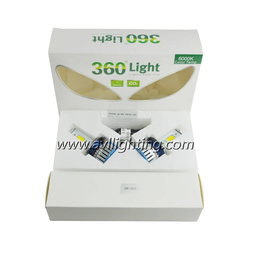 360 degree LED headlight