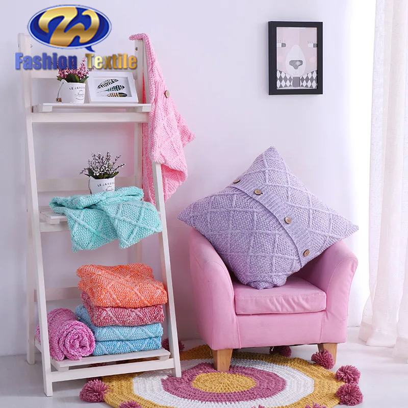 New Style Colorful Knitted Cushion Covers Chair Pillow