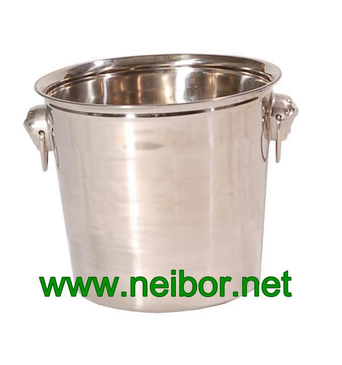 stainless steel ice bucket, beer bucket, beer bottle cooler, beer bottle chiller