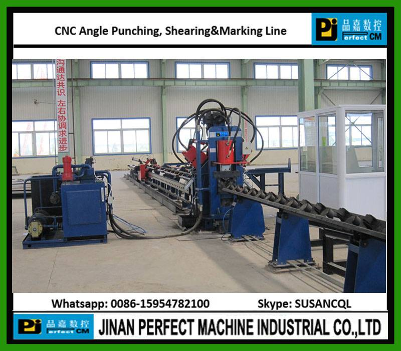 CNC Angle Line For Punching Shearing And Marking In Tower Industry