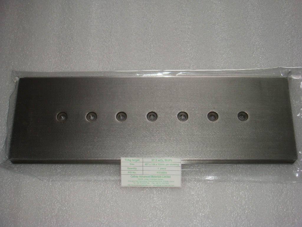 Titanium Silver (Ti/Ag) alloy target