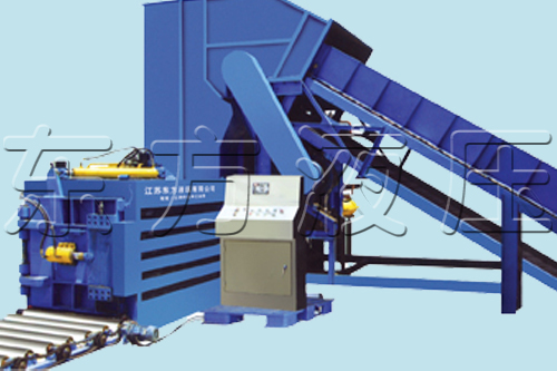 PET bottles Plastic Compactor Baler Machine with factory supply