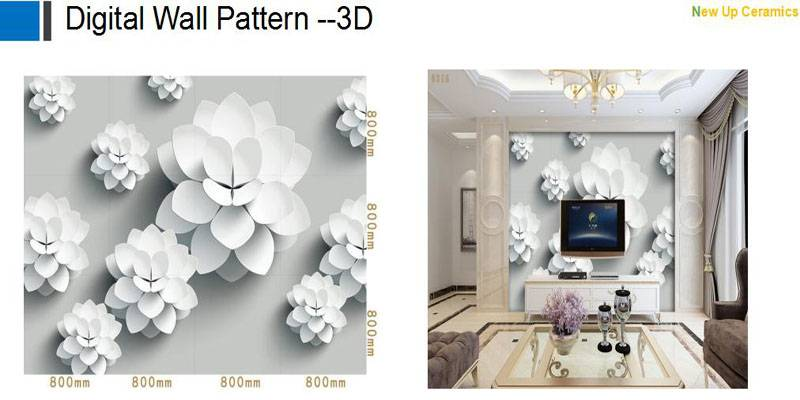 Digital Wall background decoration pattern tiles 3D