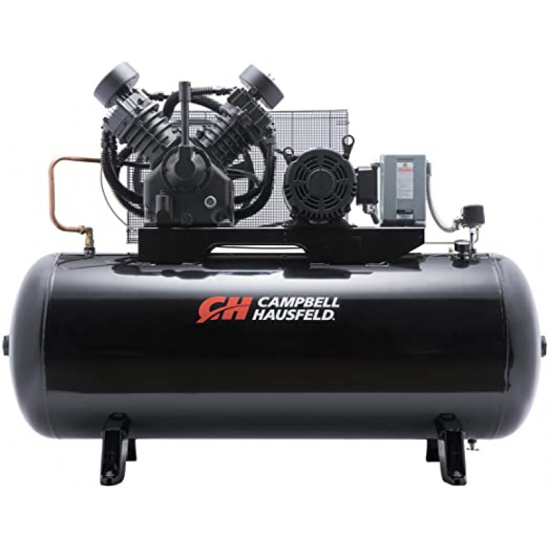 Campbell Hausfeld Two-Stage Air Compressor - 10 HP, 34.1 CFM 175 PSI, 208-230/460 Volt Three Phase