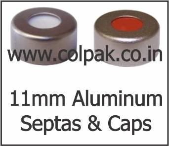 11mm Crimp Neck Aluminium Caps Septas