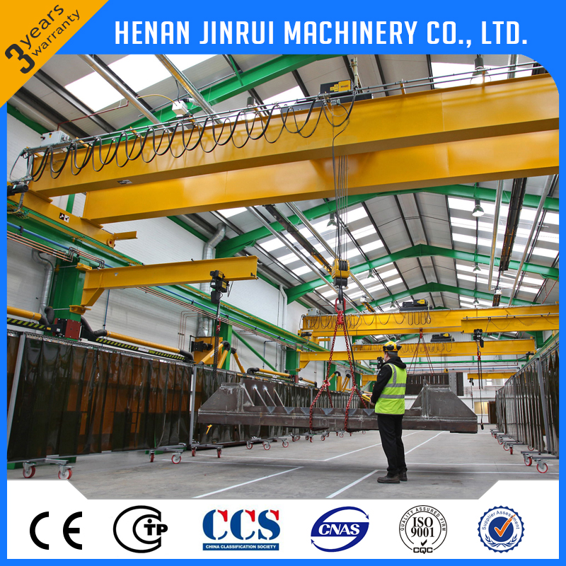 Workshop Double Girder Overhead Bridge Crane 10 ton Price