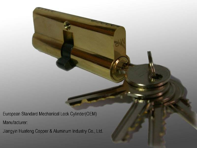 security lock cylinder with computer key