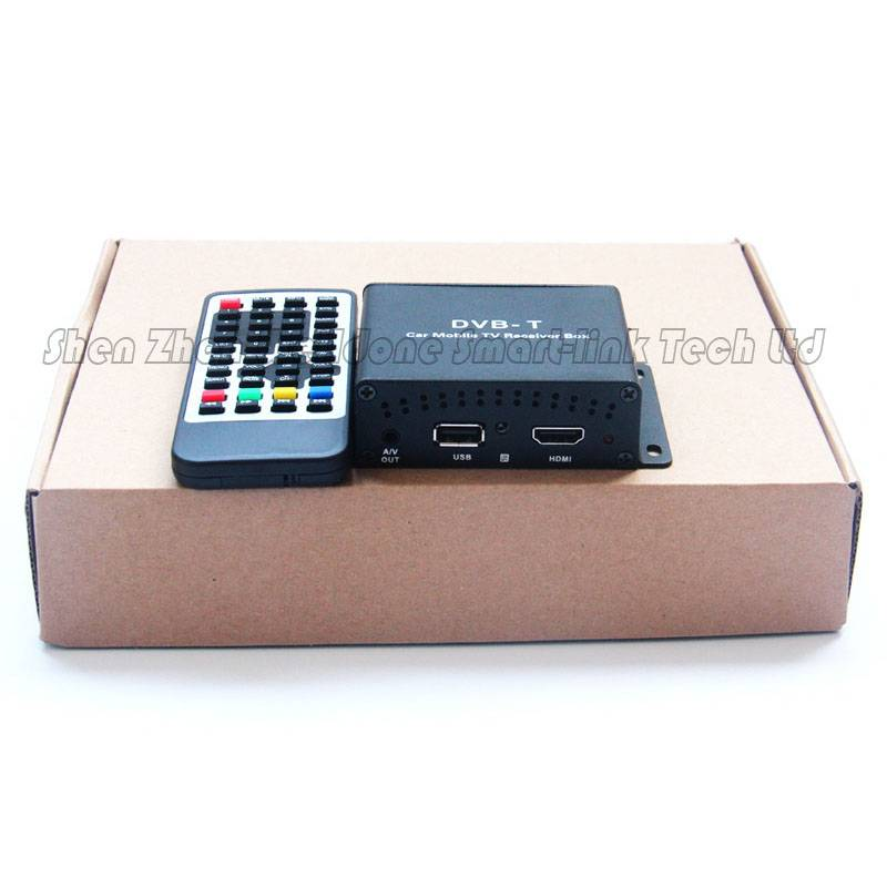 DVB-T set top box for cars digital TV receiver with two tuners