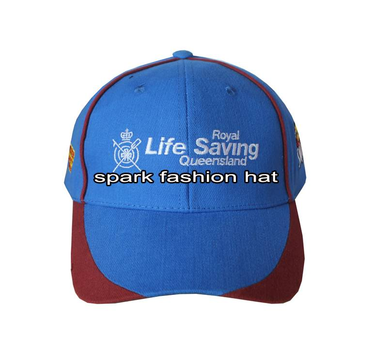 100% brush cotton promotional sports cap with patchwork