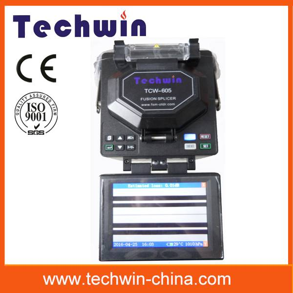 Techwin 8s automatically splicing fiber optic fusion splicers TCW-605